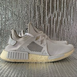 ADIDAS Boost NMD XR1 Triple White Sneakers ART BY9922 Mens Shoe Size 12